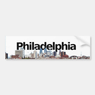 De Horizon van Philadelphia met Philadelphia in de Bumpersticker