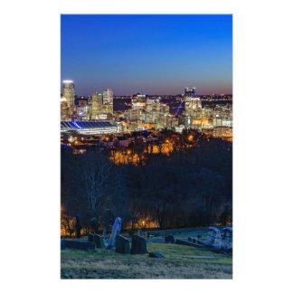 De Horizon van Pittsburgh bij Zonsondergang Briefpapier