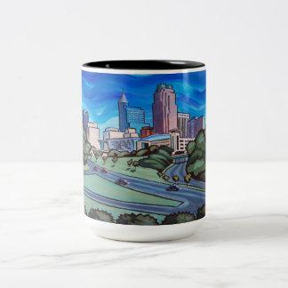 De Horizon van Raleigh Tweekleurige Koffiemok