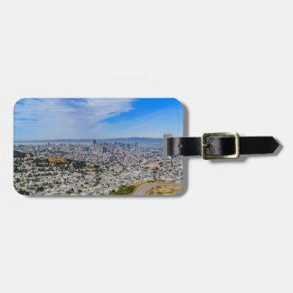 De Horizon van San Francisco Bagagelabel