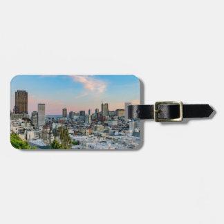 De Horizon van San Francisco bij Zonsondergang Bagagelabel