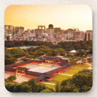 De Horizon van Seoel Zuid-Korea Onderzetter