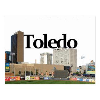 De Horizon van Toledo Ohio met Toledo in de Hemel Briefkaart