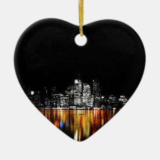 De Horizon van Toronto Keramisch Hart Ornament