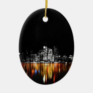 De Horizon van Toronto Keramisch Ovaal Ornament