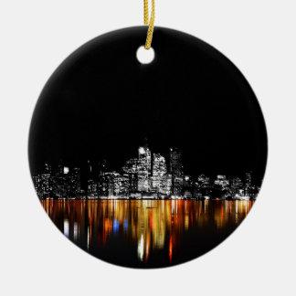 De Horizon van Toronto Rond Keramisch Ornament