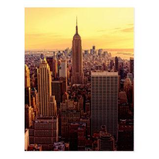 De horizonstad van New York met de Staat van het I Briefkaart