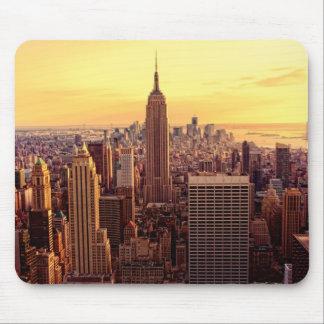 De horizonstad van New York met de Staat van het I Muismat