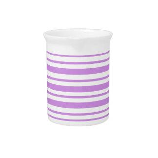 De Horizontale Krijtstreep van de lavendel Drink Pitcher