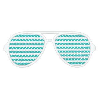 De Horizontale Strepen van Aqua Aviator Zonnebril