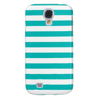 De Horizontale Strepen van Aqua Galaxy S4 Hoesje