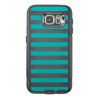 De Horizontale Strepen van Aqua OtterBox Samsung Galaxy S6 Hoesje