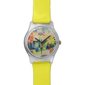 """De horloges van de Kunst van de """"tuin op Thun van"""