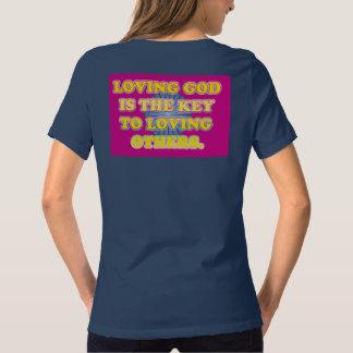 De houdende van God is de Sleutel aan het Houden T Shirt