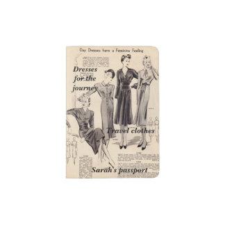 De houder van het paspoort - de vintage pagina van