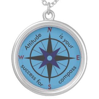 De houding is uw kompas voor succesketting zilver vergulden ketting