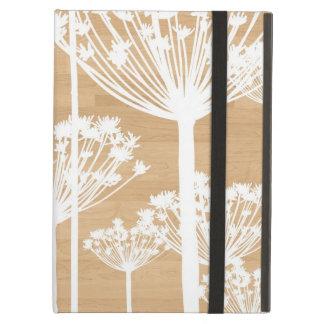 De houten achtergrond bloeit girly bloemenpatroon iPad air hoesje
