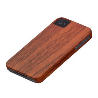 De Houten Druk van het mahonie iPhone 4 Hoesjes