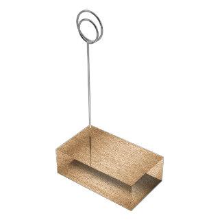 De houten effect tribune van lijstaantallen tafelnummer houder