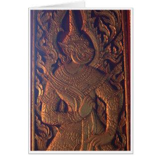 De houten Gravure van de Deur Kaart