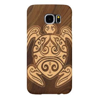 De Houten Hawaiiaanse Schildpad van Uhane u'i Honu Samsung Galaxy S6 Hoesje