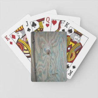 De houten lichte pool van Alaska Speelkaarten