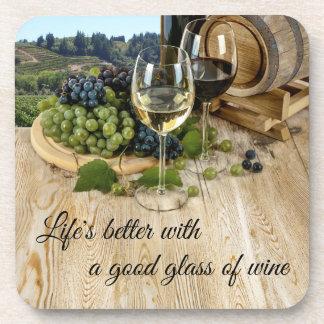 De houten Onderzetters van het Vat en van de Wijn