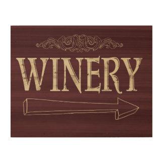 De Houten Plaque van de wijnmakerij Hout Afdruk