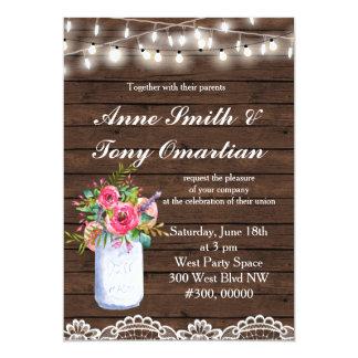 De houten Rustieke Uitnodiging van het Huwelijk