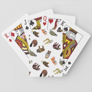De houten Speelkaarten van Critter van het