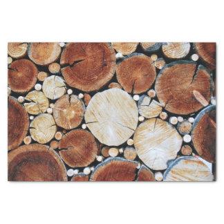 De houten Stapel van het Logboek Tissuepapier