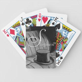 De houtskooltekening van hoge zijden pak kaarten