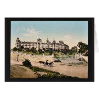 De Houtwol van het hotel, Regina Palace, Cimiez, Kaart