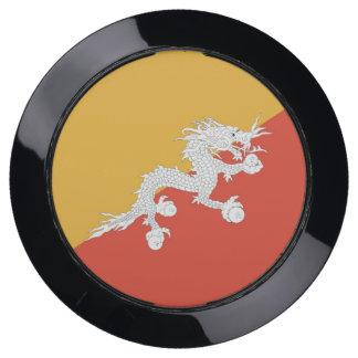 De Hub van de lader met Vlag van Bhutan USB Oplaadstation