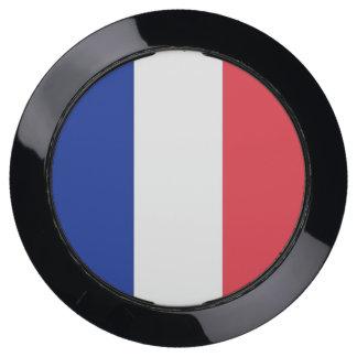 De Hub van de lader met Vlag van Frankrijk USB Oplaadstation