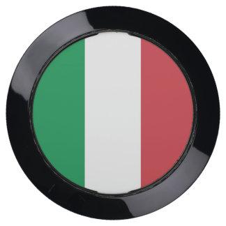 De Hub van de lader met Vlag van Italië USB Oplaadstation