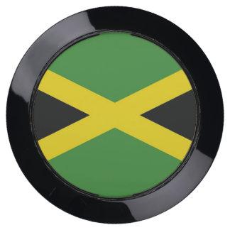 De Hub van de lader met Vlag van Jamaïca USB Oplaadstation
