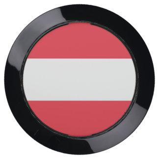 De Hub van de lader met Vlag van Oostenrijk USB Oplaadstation