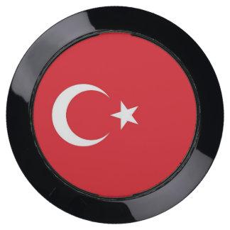 De Hub van de lader met Vlag van Turkije USB Oplaadstation