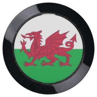 De Hub van de lader met Vlag van Wales USB Oplaadstation