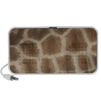 De huid van de giraf met bruine vlekken, foto van  iPhone luidsprekers