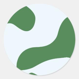 De Huid van de Kikker van het Pijltje van het Ronde Stickers