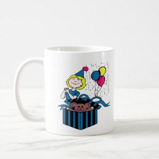 De Huidige Ballon van de Teddybeer van het Meisje Koffiemok