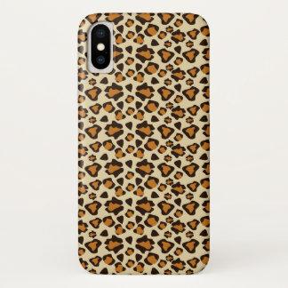 De huidpatroon van de jachtluipaard iPhone x hoesje