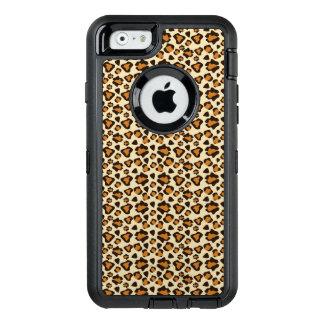 De huidpatroon van de jachtluipaard OtterBox defender iPhone hoesje