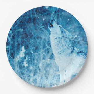 De huilende Petten van het Document van de Wolf Papieren Bordje