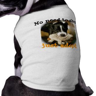 De Huisdieren van de Redding van de steun Mouwloos Hondenshirt