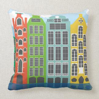 De Huizen van Amsterdam in Kleur werpen Sierkussen