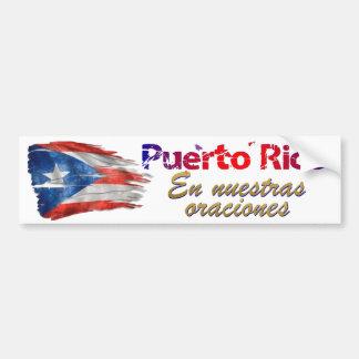 De Hulp van Puerto Rico - in onze Gebeden Bumpersticker