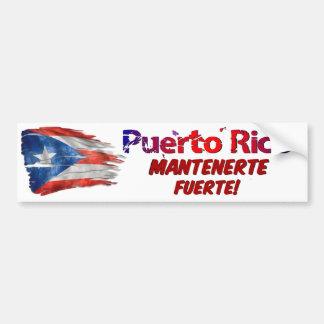 De Hulp van Puerto Rico - Sterk Verblijf! Bumpersticker